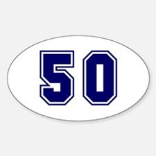 The Number 50 Decal