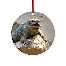 Rhino Iguana Ornament (Round)