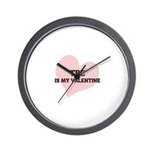Tre Is My Valentine Wall Clock