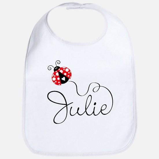Ladybug Julie Bib