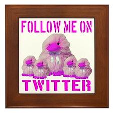 Follow Me On Twitter Framed Tile