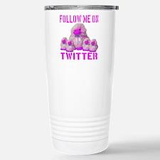 Follow Me On Twitter Stainless Steel Travel Mug