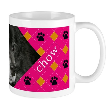 Black Chow Mix Photo Mug