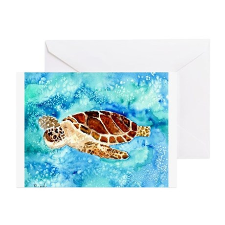 paintings of sea turtles and gifts Greeting Cards