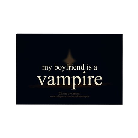 Boyfriend Vampire Eclipse Rectangle Magnet (100 pa