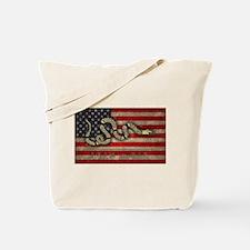 Join, Or Die -Flag Tote Bag