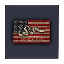 Join, Or Die -Flag Tile Coaster