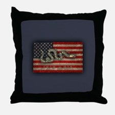 Join, Or Die -Flag Throw Pillow
