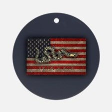 Join, Or Die -Flag Ornament (Round)