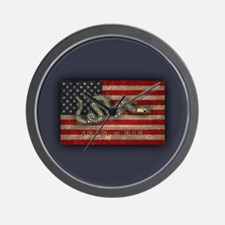 Join, Or Die -Flag Wall Clock
