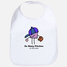 SO MANY PITCHES - BASEBALL Bib