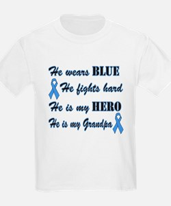 He is my Grandpa Light Blue H T-Shirt
