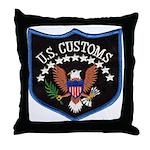 U S Customs Throw Pillow