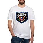 U S Customs Fitted T-Shirt