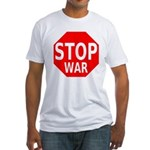 Stop War Fitted T-Shirt
