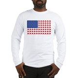American flag stock market Long Sleeve T-shirts