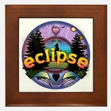 Eclipse Forest Magic by Twibaby Framed Tile