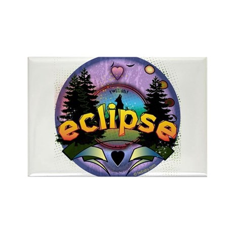 Eclipse Forest Magic by Twibaby Rectangle Magnet