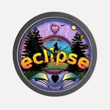 Eclipse Forest Magic by Twibaby Wall Clock
