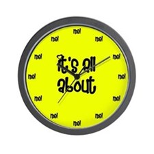 Egocentric Yellow Wall Clock