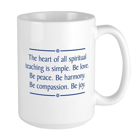 Spiritual Teaching Large Mug