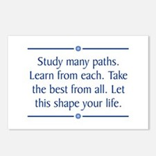 Study Many Paths Postcards (Package of 8)