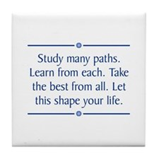 Study Many Paths Tile Coaster
