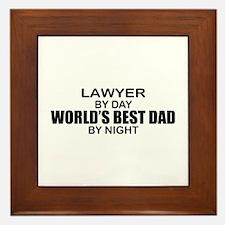 World's Best Dad - Lawyer Framed Tile