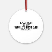 World's Best Dad - Lawyer Ornament (Round)