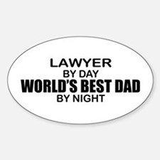 World's Best Dad - Lawyer Decal