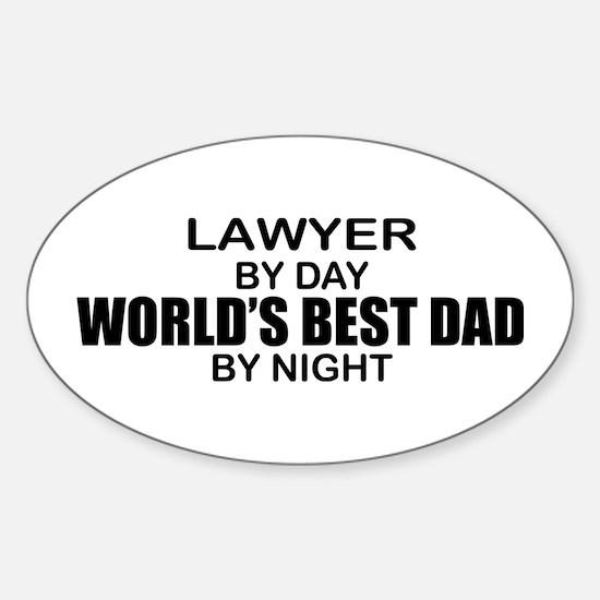 World's Best Dad - Lawyer Sticker (Oval)