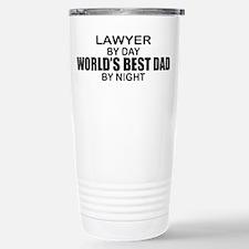 World's Best Dad - Lawyer Travel Mug