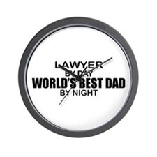 World's Best Dad - Lawyer Wall Clock