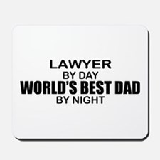 World's Best Dad - Lawyer Mousepad