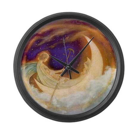 Moonboat to Dreamland Large Wall Clock
