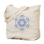 Metatron's cube tote bag