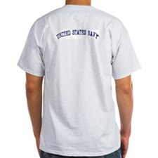 Proud Navy Dad Ash Grey T-Shirt