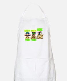 See No Hear No TIKI Apron