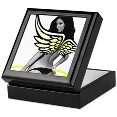 Angel Halo Wings Keepsake Box