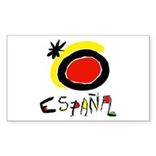 Spainish Soccer Rectangle Decal