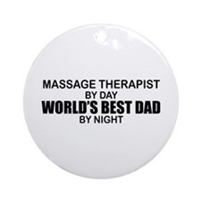 World's Best Dad - Massage Ornament (Round)