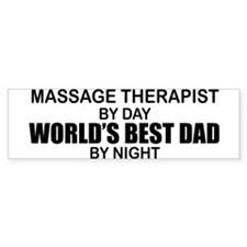 World's Best Dad - Massage Bumper Sticker