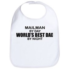 World's Best Dad - Mailman Bib