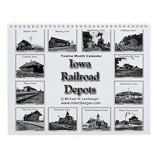 Iowa Railroad Depots- Train Depots-Wall Calendar