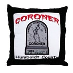Humboldt County Coroner Throw Pillow