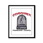 Humboldt County Coroner Framed Panel Print