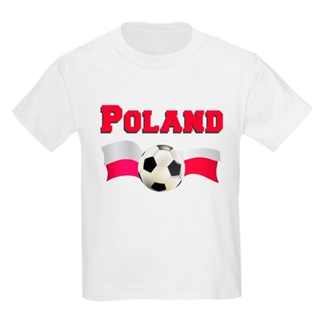 Little Polish Football Fan Kids Light T-Shirt