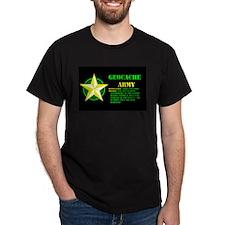 Geocache Army Black T-Shirt