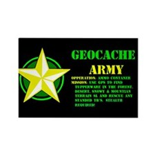 Geocache Army Rectangle Magnet (10 pack)