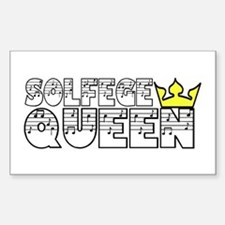 Solfege Queen Sticker (Rectangle)